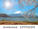 mount fuji in the morning  the... | Shutterstock . vector #1379762345