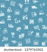 delivery of goods  seamless... | Shutterstock .eps vector #1379763302