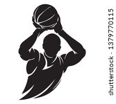 silhouette of a basketball... | Shutterstock .eps vector #1379770115