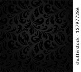 stylish floral pattern. black... | Shutterstock .eps vector #137977286