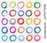 25 circle form brush stroke.... | Shutterstock .eps vector #137977598