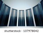 row of rack mounted servers in... | Shutterstock . vector #137978042
