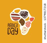 africa day greeting card... | Shutterstock .eps vector #1379817218