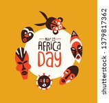 may 25 africa day greeting card ... | Shutterstock .eps vector #1379817362