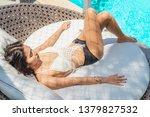 summer lifestyle traveler woman ... | Shutterstock . vector #1379827532