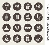 party icons | Shutterstock .eps vector #137982758