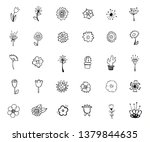 vintage decorative flowers set. ... | Shutterstock .eps vector #1379844635