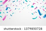 colorful confetti isolated on... | Shutterstock .eps vector #1379850728