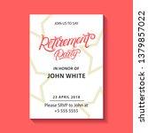 retirement party invitation.... | Shutterstock .eps vector #1379857022