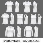 women clothes mockups of t... | Shutterstock .eps vector #1379866658