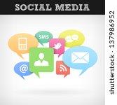 internet social media concept.... | Shutterstock .eps vector #137986952
