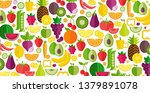 fruits and vegetables...   Shutterstock .eps vector #1379891078