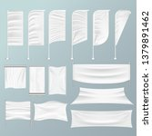 white textile advertising...   Shutterstock .eps vector #1379891462