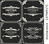 set of vector vintage background | Shutterstock .eps vector #137989172