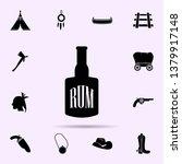 bottle of rum icon. wild west...