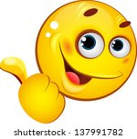 emoticon showing thumb up | Shutterstock .eps vector #137991782