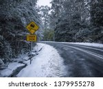 Slippery Road Warning Sign For...