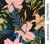beautiful seamless floral... | Shutterstock . vector #1379967095