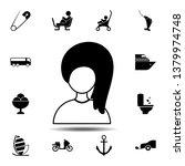 hair girl icon. simple glyph ...