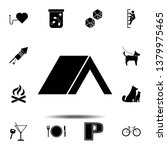 tent icon. simple glyph  flat...