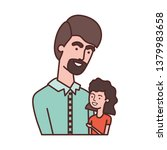 father with daughter avatar... | Shutterstock .eps vector #1379983658