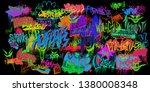 original graffiti street art...   Shutterstock . vector #1380008348