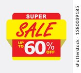 60  discount  sales vector... | Shutterstock .eps vector #1380039185