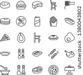 thin line vector icon set  ... | Shutterstock .eps vector #1380043802