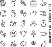 thin line vector icon set  ... | Shutterstock .eps vector #1380046448