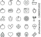 thin line vector icon set  ...   Shutterstock .eps vector #1380051032