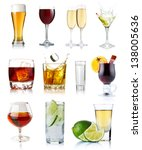 set of alcohol drinks in... | Shutterstock . vector #138005636