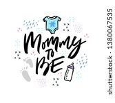 mommy to be hand drawn vector... | Shutterstock .eps vector #1380067535