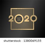 happy new year  gold numbers...   Shutterstock .eps vector #1380069155