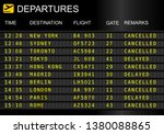 Flight Departures Board...