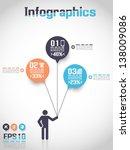 infographics modern business... | Shutterstock .eps vector #138009086