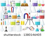 set of lab tools illustration | Shutterstock .eps vector #1380146405
