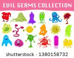cartoon style angry germs ... | Shutterstock .eps vector #1380158732