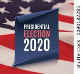 presidential election 2020... | Shutterstock .eps vector #1380182285