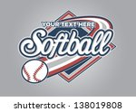 Softball Sport Graphic