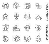 sustainable energy line icon set | Shutterstock .eps vector #1380221408