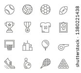 sports line icon set | Shutterstock .eps vector #1380221438