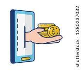 people online banking | Shutterstock .eps vector #1380237032