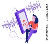 sound wave graphic girl... | Shutterstock .eps vector #1380271265