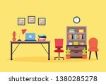 office interior workplace | Shutterstock .eps vector #1380285278