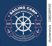 sailing camp badge. vector... | Shutterstock .eps vector #1380289535