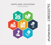 simple set of add location  add ... | Shutterstock .eps vector #1380320792