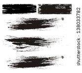 black ink blot on white...   Shutterstock .eps vector #138033782