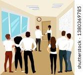 office work. the boss hires a... | Shutterstock .eps vector #1380369785