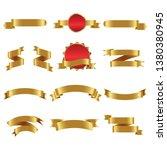 gold ribbon set inisolated... | Shutterstock .eps vector #1380380945