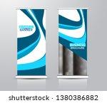 roll up stand design. vertical... | Shutterstock .eps vector #1380386882